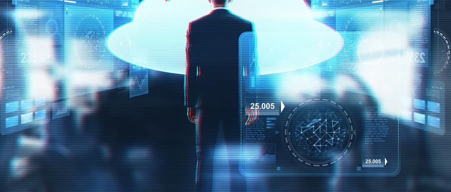 摄图网_300125107_wx_商业,人技术商人穿着西装,抽象的背景下看虚拟云全息图商人看虚拟云全息图商人看虚拟云全息图(企业商用).jpg
